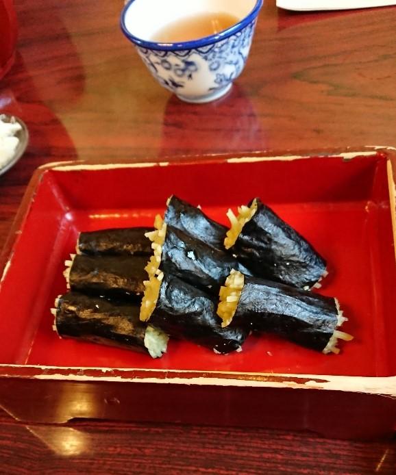 そば寿司~生姜と甘酢の味が抜群でした